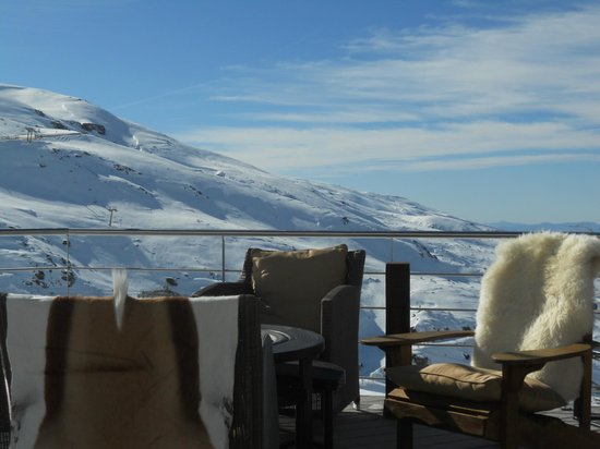 El Lodge:                   view from terrace restaurant