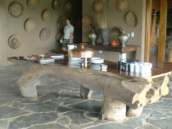 Rhulani Safari Lodge:                   High tea