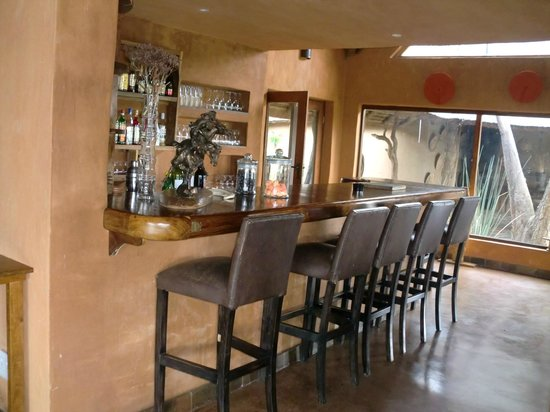 Rhulani Safari Lodge:                   Bar area