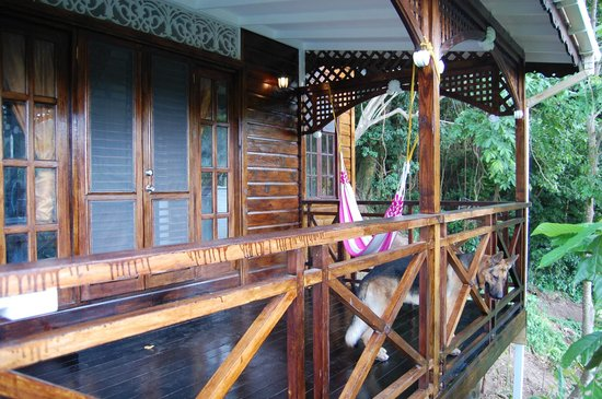 Fond Doux Plantation & Resort:                   The verandah of one of the cottages