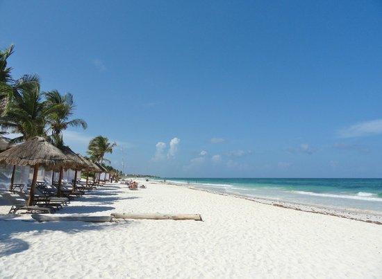 Hotel Cabanas Tulum:                   La plage