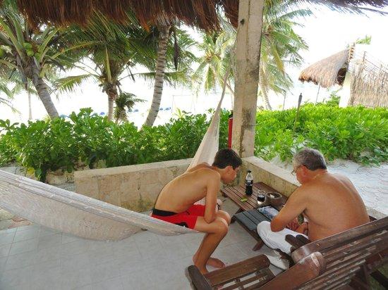 Hotel Cabanas Tulum:                   la terrasse