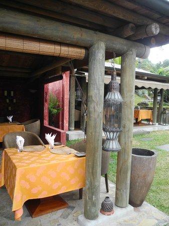 Lakaz Chamarel Exclusive Lodge:                   Unser Tisch fürs hervorragende Abendessen