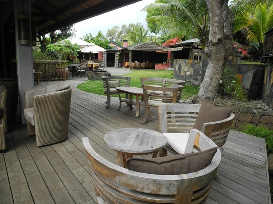 Lakaz Chamarel Exclusive Lodge:                   Bar Aussenbereich