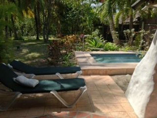 Galley Bay Resort: Cottage area with plunge pool