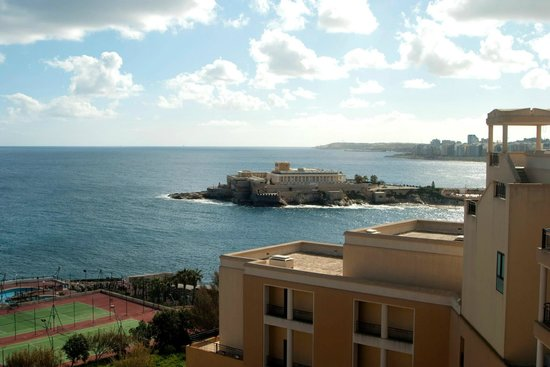 Corinthia Hotel St. George's Bay: View from room...Casino in the background