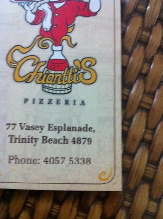 Chiantti's Pizzeria:                   phone number