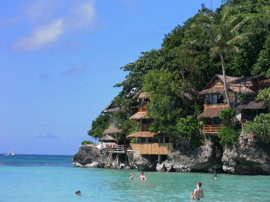 Spider House Resort:                   View from Diniwid Beach