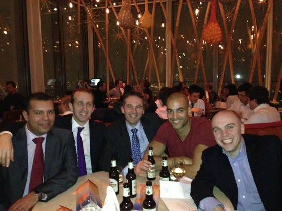 Enjoying our all expenses paid dinner at Sushi Samba courtesy of Project Resou