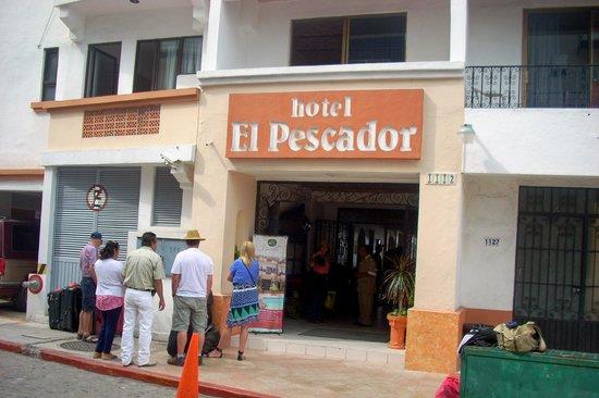 El Pescador:                   Front of hotel