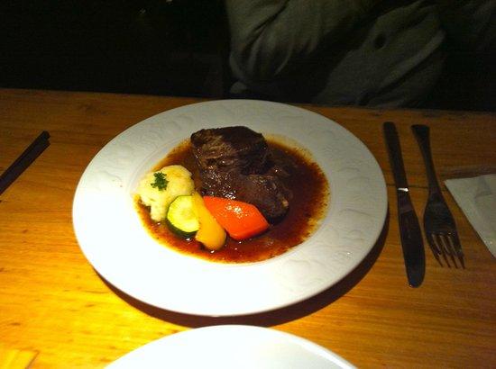WINE&DINING at:                   Tender steak and Vegetables
