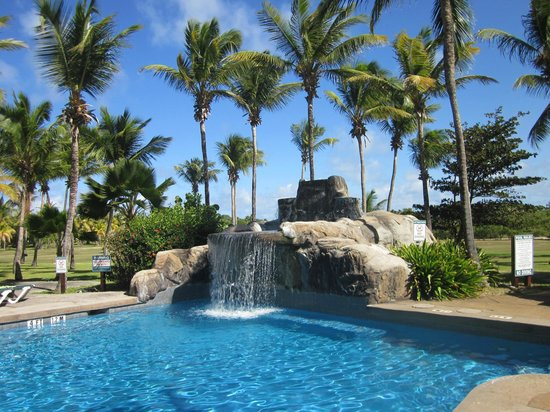 Palm Island Resort & Spa:                   pool and waterfall