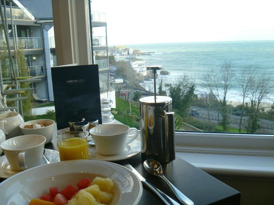 St. Ives Harbour Hotel & Spa:                   lovely breakfast view