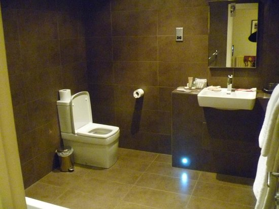 St. Ives Harbour Hotel & Spa:                   our bathroom