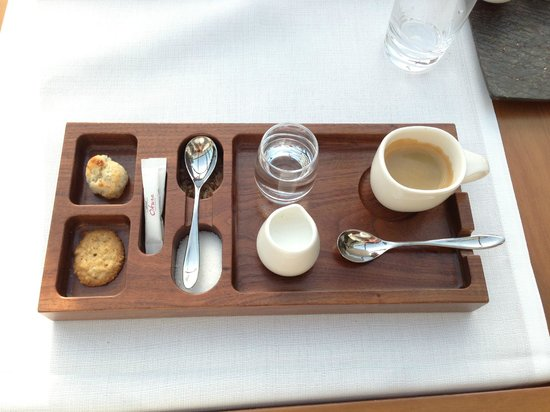 Hotel Okura Amsterdam:                   espresso cofee set at Serre restaurant in hotel