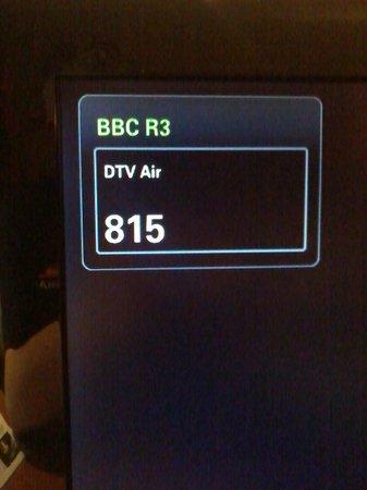 Premier Inn Halifax South Hotel: A bad omen. BBC RAdio 3 is usually channel 703. 815?