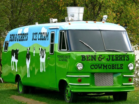 Ben & Jerry's :                   Cool bus