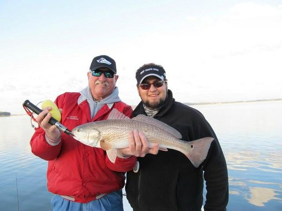 Fields Fishing Charters: A nice winter redfish!