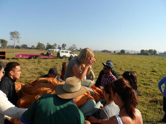 Hot Air Balloon Gold Coast:                   Packing up!