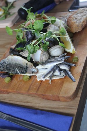 Galley Cafe:                   Seafood platter