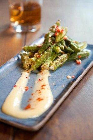 Tapaya:                                     okra salad