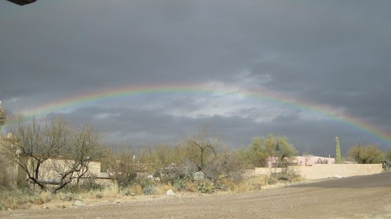 Tanque Verde Ranch:                   Rainbow over the ranch