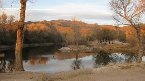 Tanque Verde Ranch:                   Nearing sunset on the mountains