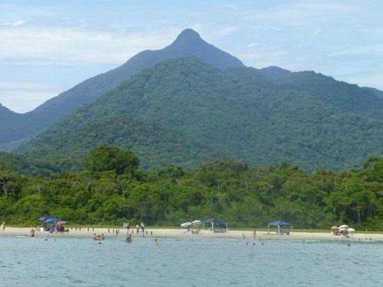 Picinguaba:                                                       The mountains beyond.