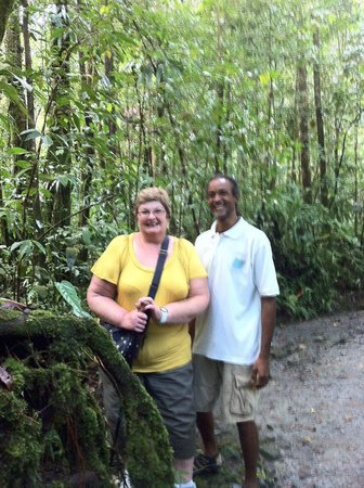 Bumpiing Tours:                   Levi and me in the rainforest