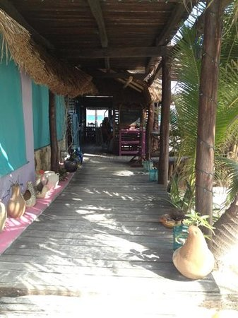 Hemingway Eco Beach Resort:                   Gang zur Rezeption und Restaurant