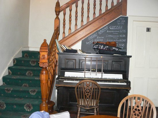 Craigdarroch Arms Hotel:                   Lounge bar and stairs.