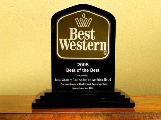 BEST WESTERN Los Andes De America: PREMIOS!!