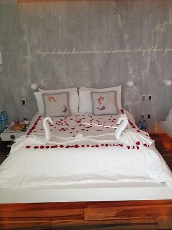 Be Playa Hotel:                   Honeymoon-Decoration :) Thank you so much. Just beautiful