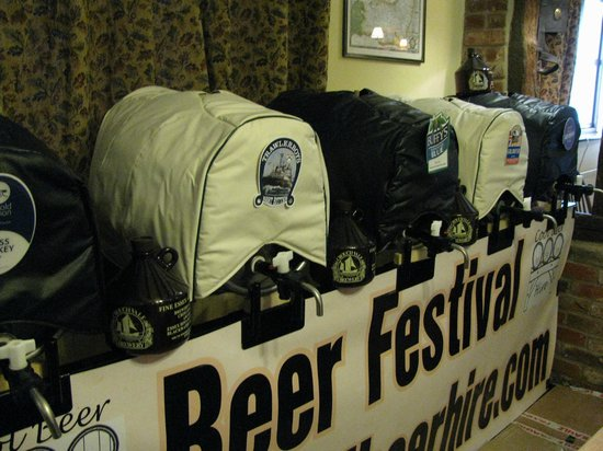 The Plough Inn: Bi-annual beer festivals held every Easter weekend and in September
