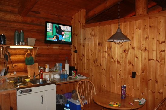 Cowboy Village Resort:                   TV in kitchenette