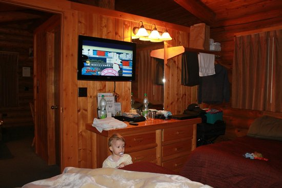 Cowboy Village Resort:                   TV in the bed room