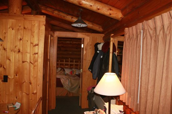 Cowboy Village Resort:                   View from the living room/kitchenette to the bed room