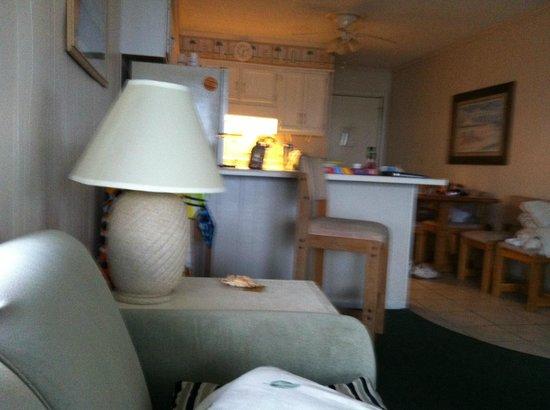 Sands Ocean Club Resort:                   In living room looking toward kitchen