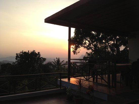 Royal Mist:                   Verandah in the sunset