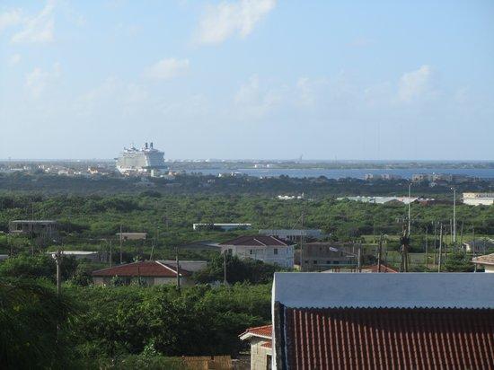 cruise ship in town