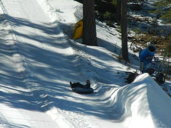 Ruidoso Winter Park:                   My Wife on chute 4