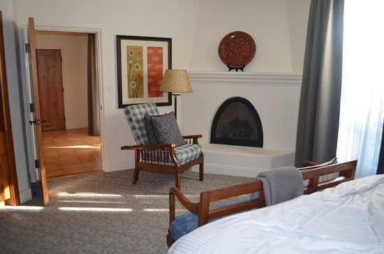 Ojai Valley Inn:                   Bedroom with Fireplace
