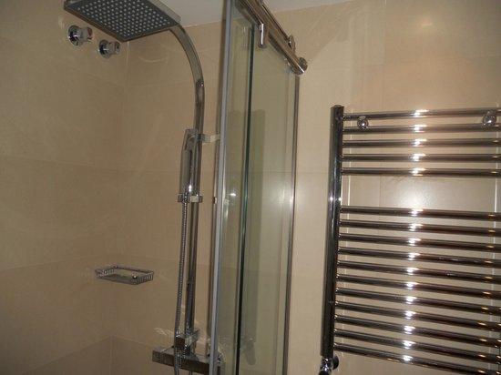 Gran Hotel Balneario Puente Viesgo: Ducha y calentador de toallas