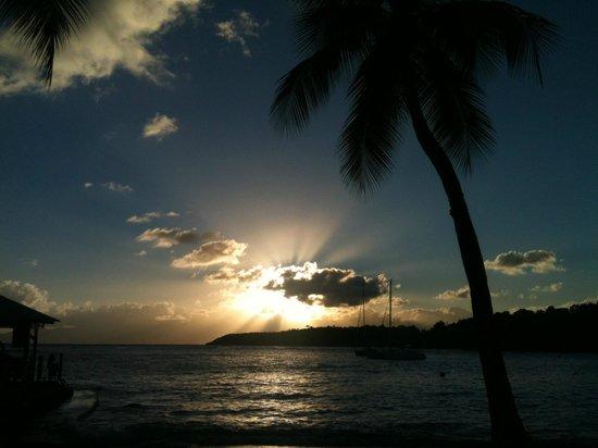 Club Med La Caravelle:                   coucher de soleil