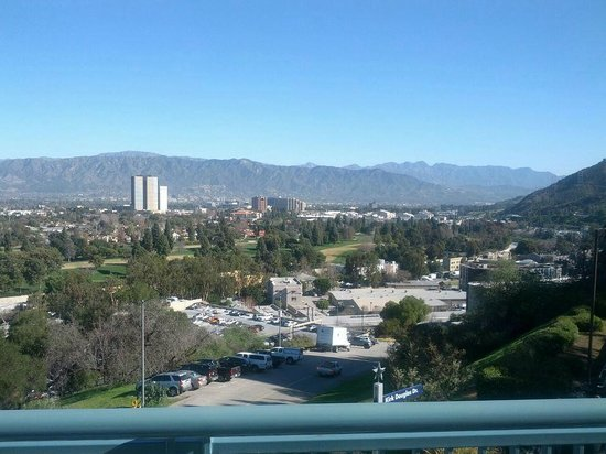 Hilton Los Angeles/Universal City:                   View from our room
