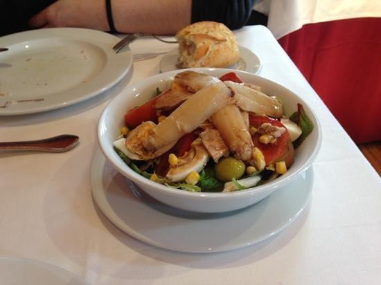 Restaurante Alcaravea:                   ensalada mixta