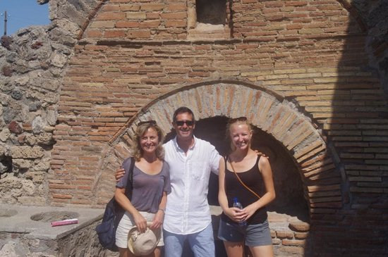 Gaetano's Pompeii Tours:                   Gaetano and us in the bakery