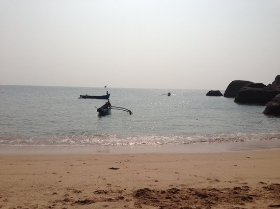 The Village Guesthouse:                   Butterfly beach - you can ask a fisherman to take you in a boat