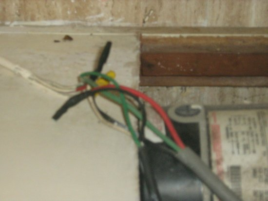 Couples Sans Souci:                                     open exposed wires for jacuzzi