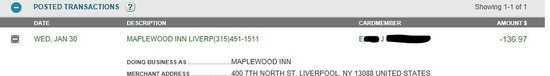 Maplewood Suites Extended Stay - Syracuse/Airport:                   Thank you for the REFUND!!